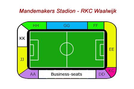 Plattegrond Mandemakers Stadion